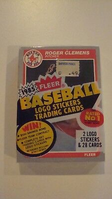 1985 Fleer Factory Sealed Cello Pack Roger Clemens Rookie On Top
