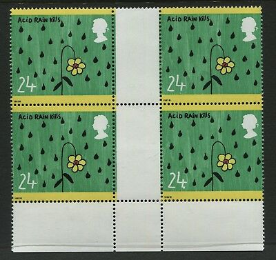 GB 1992 24p Green Issue stamp - large full stop after 4 flaw SG1629a MNH - BQ173