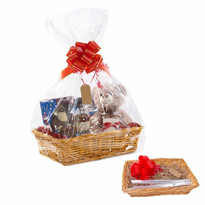 Large Make Create Your Own Wicker Gift Hamper Basket - Baby Christmas Present Uk