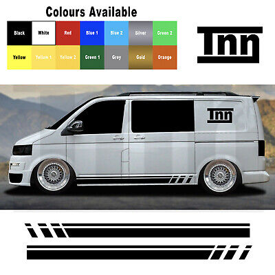 VW Volkswagen Transporter T5 T4 Camper Van Stripes Stickers Graphic Decals Vinyl