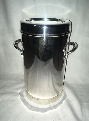 Rare Silver Plated Olri 1970s Vintage Single Bottle Cooler Mid Century Barware