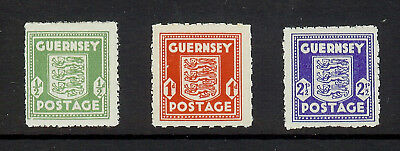 1941 Guernsey Arms Complete Set Mint Fresh Looking Three Stamps See Scans