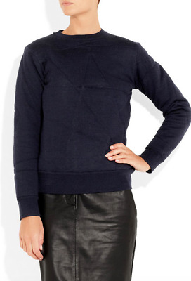27534f559bf ACNE Studios Navy Quilted  Charlotte  Wool Pullover Sweater Size M ...