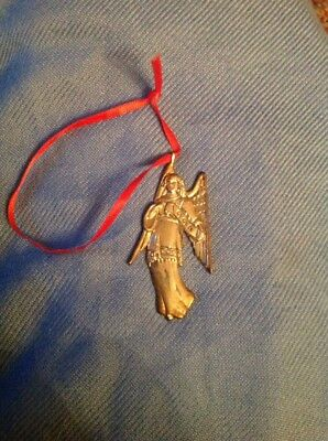 Sterling Silver Hand & Hammer Angel Christmas Tree Ornament Holiday 1994