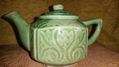 Super old! c1918 ANTIQUE JAPANESE TEAPOT dobin style PORCELAIN Rare!! MINIATURE