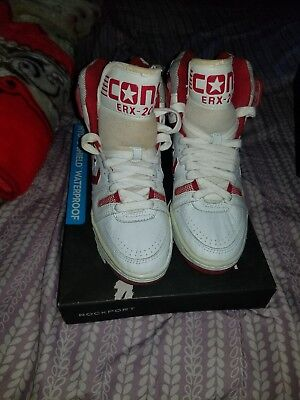 1c45bf2e1618a Vintage Converse Cons ERX-200 Basketball Shoes DS Deadstock NOS Red Size 7.0