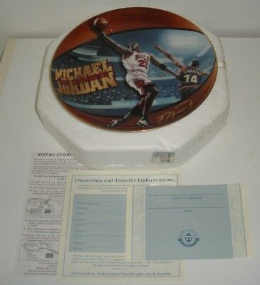 Michael Jordan,5 Time NBA MVP,Limited Edition Collectors Plate (Dated 1998)