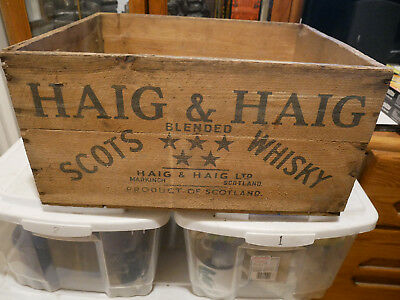 Vintage Haig & Haig Scots Blended Whisky Wood Crate