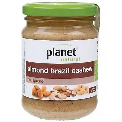 Planet Natural Nut Spread Almond Brazil Cashew 250G