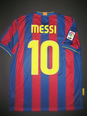 81449a77908 2009-2010 Nike Authentic FC Barcelona Lionel Messi Argentina Jersey Shirt  Kit