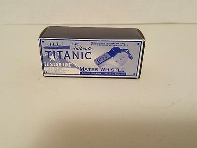 The Authentic Titanic Te Star Line -- Mates Whistle Solid Brass--Made In England