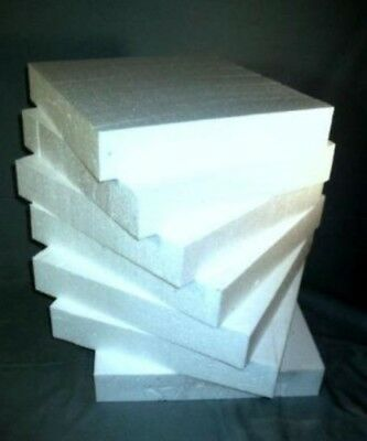 Styrofoam Blocks - Qty 12 (12x12x2) EPS  School Crafts Florist Packaging Cakes