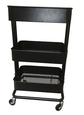 Raskog 1419 903 339 76 Home Kitchen Storage Utility Cart Black