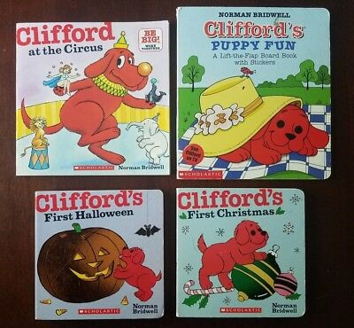 lot of 4 clifford by norman bridwell scholastic books