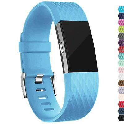For Fitbit Charge 2 Replacement Wristband Wrist Strap Smart Watch Band SkyBlue