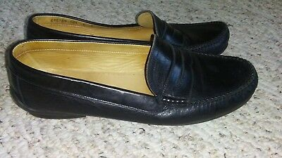 29e382ca399 BALLY Women s Size US 8.5 Black Leather Italy Pimes Loafer Dress Shoes