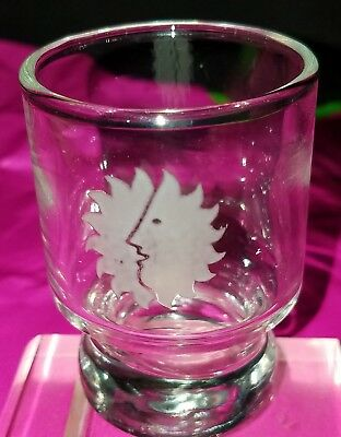 Vintage Set Of (3)  NATIONAL AIRLINES First Class Sun King Logo Shot Glasses