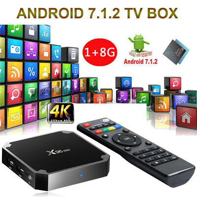 X96mini Android 7.1.2 TV Box 1GB/8GB Amlogic S905W Quad Core H.265 WiFi Médias