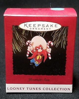 NEW Hallmark LOONEY TUNES 1994 YOSEMITE SAM candy canes NEW in Box NIB