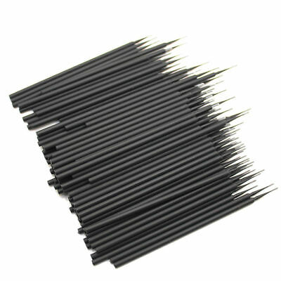 400 Pcs 4 Bottles Dental Micro Brush Disposable Tooth Applicators Black Small