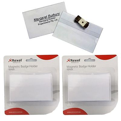 2 Boxes of Rexel Magnetic Name Badge (10 Badges in each Pack)