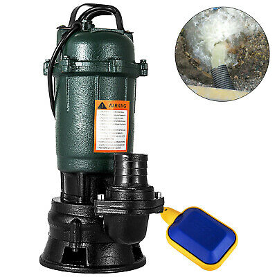 500W Submersible Sewage Dirty Waste Water Pump 2200GPH 2	 Inch Heavy Duty GOOD