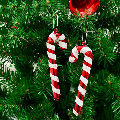 12× Christmas Tree Candy Cane Hanging Ornament Decoration Home Xmas Party Decor