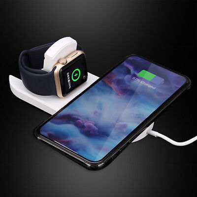 Fast Charger Qi Wireless Charging Dock 2in1 For Apple Watch For iPhone XR XS MAX
