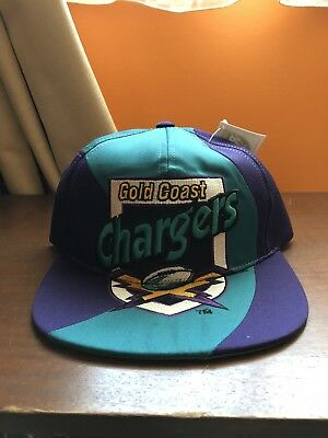 NEW vintage Rugby League Goldcoast Chargers Arl Nrl Snpaback Cap