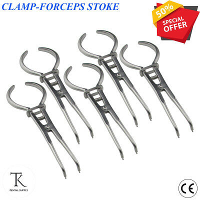 x 5 Stoke Rubber Dam Clamp Forceps Endodontic Clamps forceps Dental Instruments