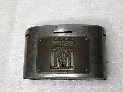 Vintage The Bowery Savings Bank Teller by Automatic Recording Safe Chicago rare