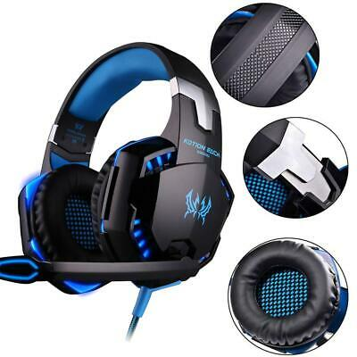 3.5mm Gaming Headset MIC LED Headphones Game for PC Mac Laptop Xbox One 360