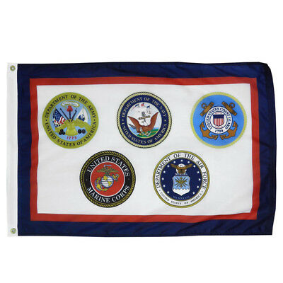 U.S. Armed Forces Military Flag Banner 3X5Feet