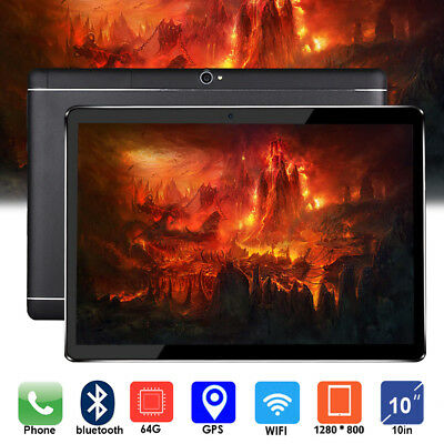 10.1'' Tablet PC Android 6.0 Octa Core 4+64GB 10 Inch HD Screen WIFI 3G Phablet