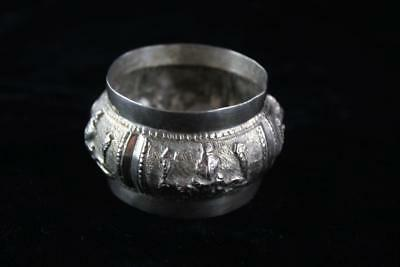 ANTIQUE STERLING SILVER THAILAND PATTERNED NAPKIN RING 25.2g