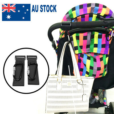 4pcs PRAM HOOK Baby Stroller Hooks Shopping Bag Clip Carrier Pushchair Hanger AU