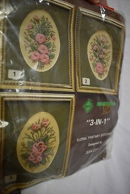 New unused Madeira Floral Fantasy Stitchery 3-in-1 Jean Cowley design