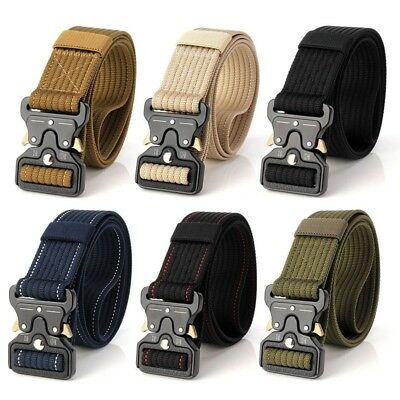 OUTDOOR HEAVYDUTY RIGGER Military Tactical Belt Quick-Release Metal Buckle  Strap