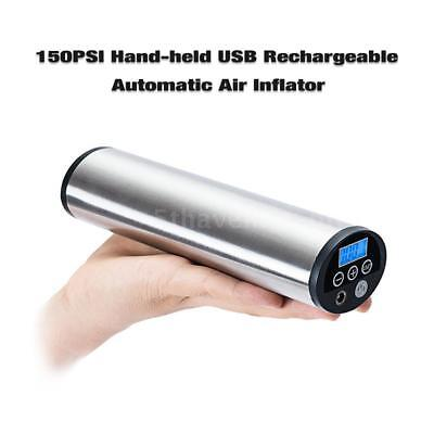 Lixada Hand-Held 12V Electric Mini Air Inflator with 150PSI Rechargeable I3X3