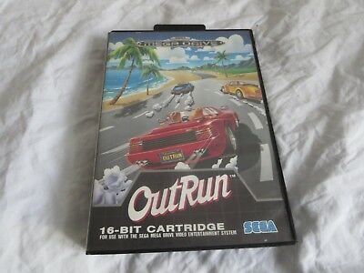 Sega Mega Drive Outrun EMPTY PAL Game Box / Inlay ONLY - FREE SIGNED FOR P+P!!!!