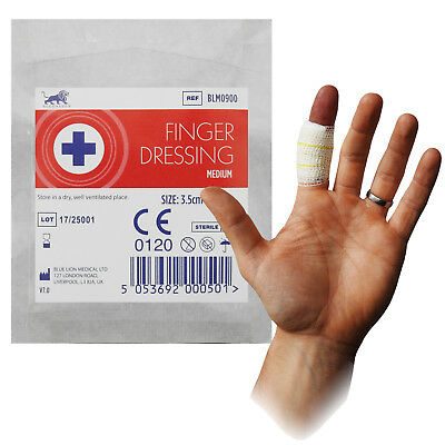 Blue Lion 3.5cm x 3.5cm CE First Aid Stretch Adhesive Finger Bandage Dressing