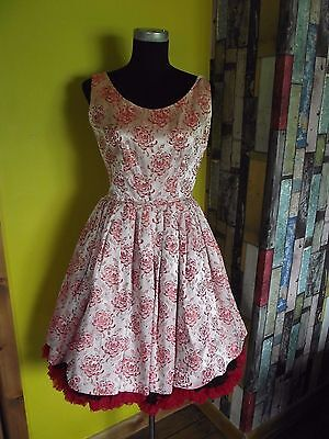 True Vintage original 1950's prom cocktail full circle dress size 12