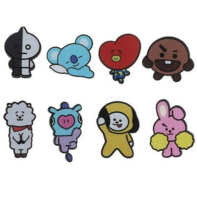 2pcs KPOP BTS Bangtan Boys Cute Sticker Waterproof Cartoon Sticker Decal Paster