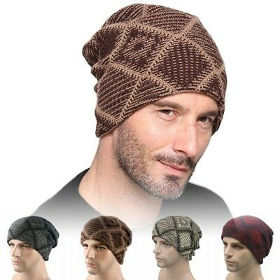 Fashion Men s Hat Autumn Winter Knitted Hats Cap Warm Skullies Beanies  Bonnet UK 1615a47070a