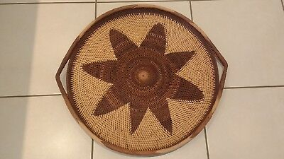 PNG Handmade Basket / Tray Made From Natural Materials in Papua New Guinea