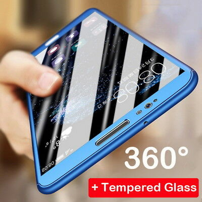 360° Full Cover Hybrid Tempered Glass Case For Xiaomi Redmi Note 5 Pro 4X 5A 6A