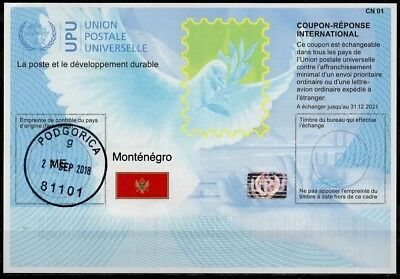 MONTENEGRO Is41  20180215 AA Int. Reply Coupon Reponse Antwortschein IRC IAS CRI