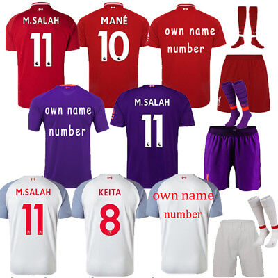 18/19 Football Kid 3-14Y Youth Kit Shirt Soccer Suits Jersey Club Suit+Socks