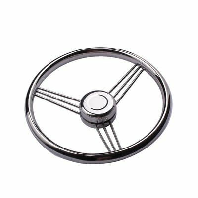 13-1/2'' Stainless Steel Polished 9 Spokes Boat Steering Wheel For Marine Yacht