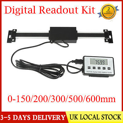 0-600mm Accurate Digital DRO Readout Scale For Milling Lathe Linear Tool LCD UK